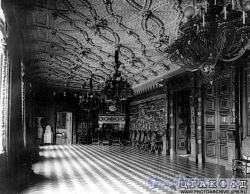 Наб. реки Мойки, д. 122. Дворец великого князя Алексея Александровича. Английский зал. Фото ателье Буллы (около 1903 г.) (из архива ЦГАКФФД)