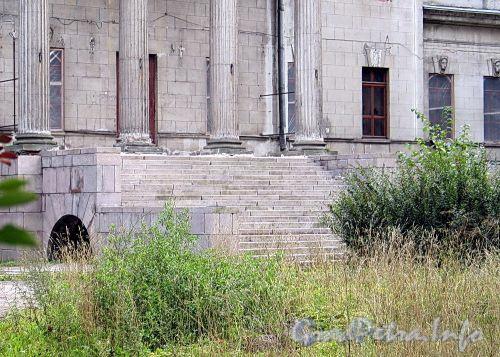 Наб. Малой Невки, д. 16-18. Северный фасад особняка. Широкая парадная лестница. Фото сентябрь 2010 г.
