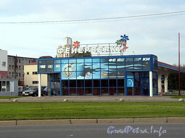 Выборгская наб., д. 57, корп. 1. Автозаправочная станция. Фото сентябрь 2011 г.