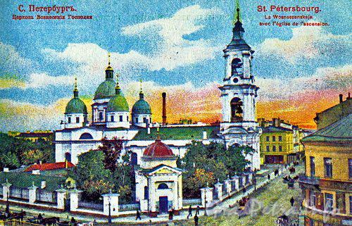 Вознесенский пр., дом 34 / набережная канала Грибоедова, дом 76. Церковь Церковь Вознесения Господня (снесена)