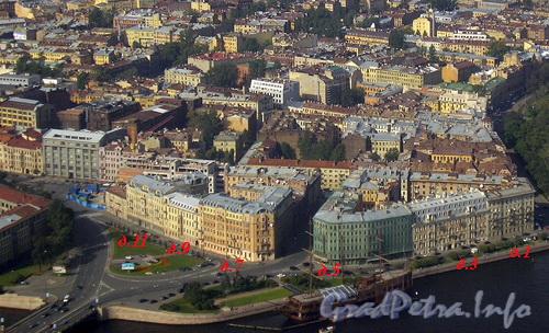 Мытнинская наб., д. 5. Вид с вертолета. Фото 2004 г.