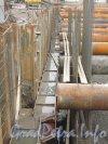 Пироговская набережная. Строительство стенки тоннеля со стороны реки Невы. Фото 22 ноября 2012 г.