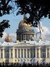 Английская наб. Здание Сената и Исаакиевский собор из Румянцевского сквера. Фото август 2012 г.