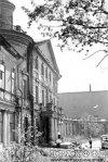 Свердловская наб., д. 40, лит. А. Главный фасад здания. Фото 1950-х гг. (из архива ЦГАКФФД СПб)