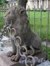 Свердловская наб., д. 40, лит. А. Ограда из 29-ти львов перед главным фасадом здания. Фото июнь 2009 г.