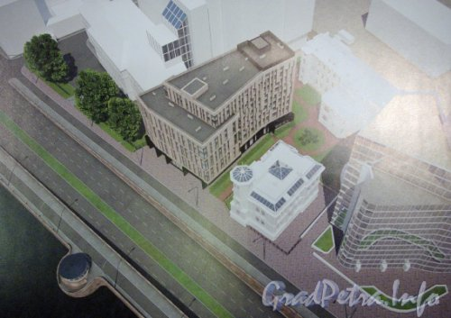 Пироговская наб., дом 7. Первый проект (отклоненный) гостиницы «Aloft».