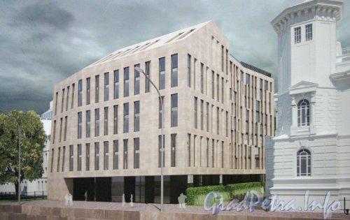 Пироговская наб., дом 7. Второй проект гостиницы «Aloft», после согласования с КГИОП.