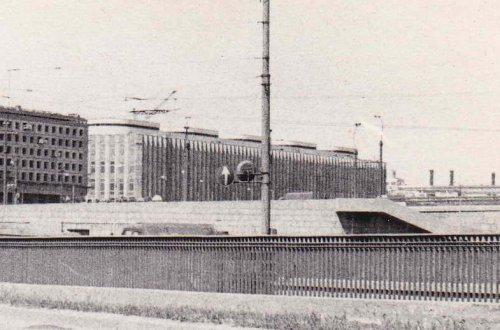 Синопская набережная, дом 14. Общий вид Центральной телефонной станции. Фото 1972 г.