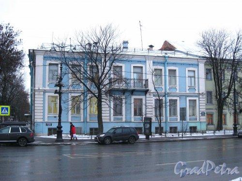 Наб. Лейтенанта Шмидта, дом 23. Фасад со стороны набережной. Фото январь 2013 г.