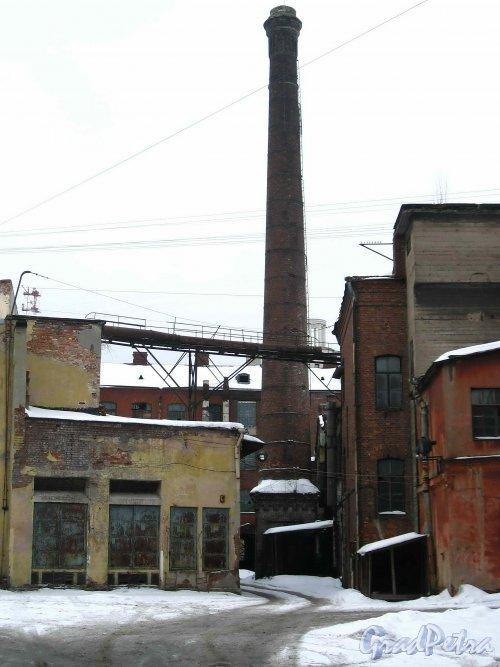 Набережная реки Карповки, дом 27, литера Б. Вид с набережной реки Карповки. Фото 8 февраля 2013 г.