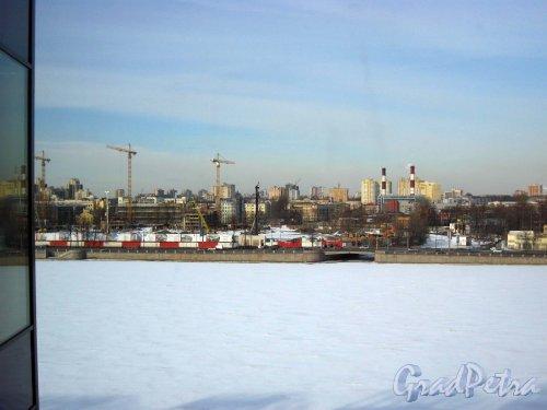 Ушаковская набережная, дом 3. Строительство жилого комплекса «RIVERSIDE». Фото 13 марта 2013 г.