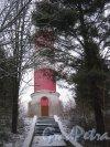Лен. обл., Выборгский р-н, Маяк Стирсудден. Нижняя часть башни. Фото 7 декабря 2013 г.