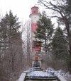 Лен. обл., Выборгский р-н, Маяк Стирсудден. Общий вид башни. Фото 7 декабря 2013 г.