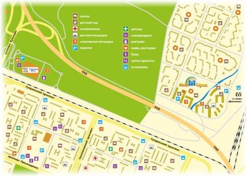 Жилой комплекс «Мой Город». Фрагмент карты