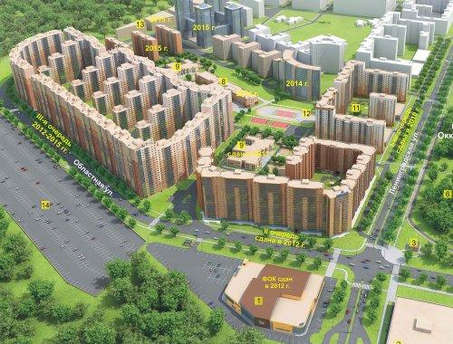 План жилого комплекса «Новый Оккервиль»