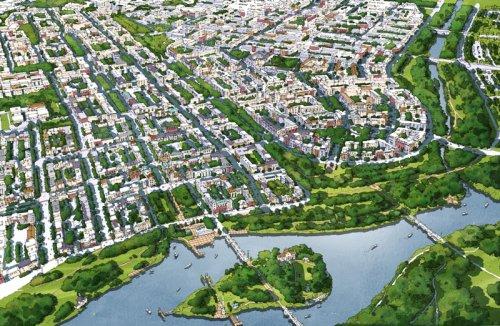 Проект города-спутника «Южный». Центральная часть.