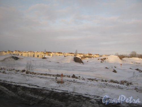 Гатчинский р-н, пос. Гатчинские Поместья. Вид с Киевского шоссе. Фото 21 марта 2013 г.