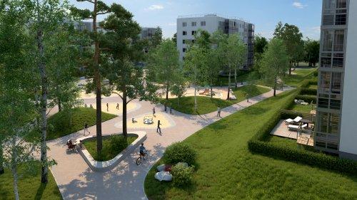 Жилой комплекс «Gröna Lund». Проект жилого комплекса. Общий вид.
