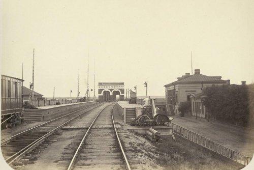 Железнодорожная станция Бабино. Фото из альбома «Виды Николаевской Железной дороги»