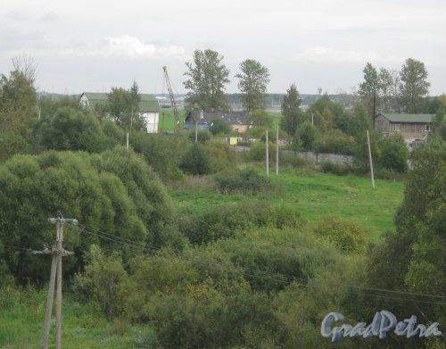 Красносельский р-н, пос. Старо-Паново. Общий вид с Лиговского путепровода. Фото 9 сентября 2013 г.