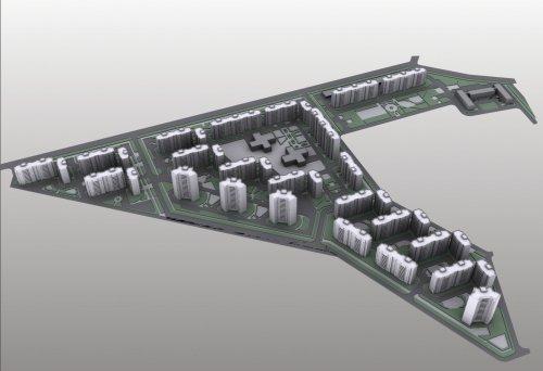 Перспектива жилого комплекса «Осиновая Роща» военного городка №1 в поселке Осиновая Роща.