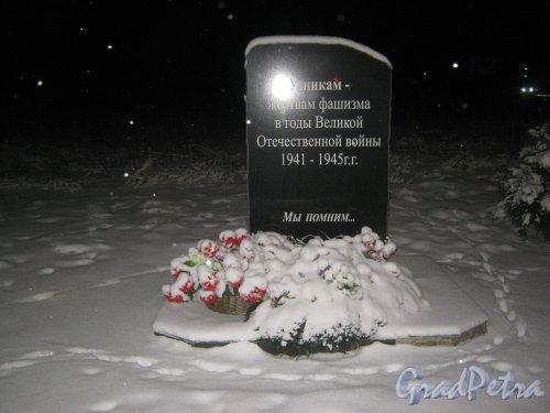 Памятник узникам концлагерей в деревне Кипень. Фото 7 декабря 2013 г.