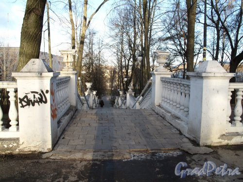 Лестница между Дворцовым пр. и Еленинской ул. в створе ул. Ломоносова 1950-е
