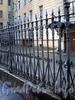 Ограда вдоль дома 2 по Волынскому переулку. Фото октябрь 2009 г.