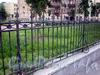 Фрагмент ограды сквера на площади Кулибина. Фото август 2009 г.