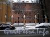 Греческий пр., д. 7. Ограда у здания электроподстанции. Фото февраль 2010 г.