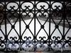 Фрагмент ограды Варшавского моста. Фото февраль 2010 г.