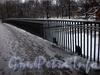 Ограда Мало-Крестовского моста. Фото декабрь 2009 г.