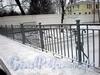 Фрагмент ограды 14-го Каменноостровского моста. Фото декабрь 2009 г.