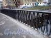 Ограда Петропавловского моста. Фото декабрь 2009 г.