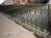 Фрагмент ограды моста Белинского. Фото декабрь 2009 г.