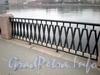 Фрагмент ограды Аптекарской набережной. Фото декабрь 2009 г.