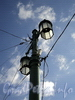 Светильники Большого Крестовского моста. Фото сентябрь 2010 г.