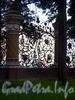 Фрагмент ограды Михайловского сада со стороны канала Грибоедова. Фото август 2004 г.
