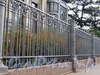 Бывший особняк М. Ф. Кшесинской. Ограда. Вид с Кронверкского проспекта. Фото октябрь 2010 г.