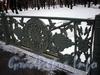 Фрагмент ограждения 1-го Садового моста. Фото март 2010 г.