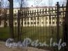 Петроградская наб., д. 44. Фрагмент ограды вдоль улицы Чапаева. Фото апрель 2010 г.