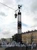 Фонарь Краснооктябрьского моста. Фото сентябрь 2011 г.