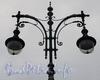 Светильники фонаря на площадке у лестничного спуска к воде напротив проспекта Чернышевского. Фото ноябрь 2011 г.