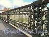 Фрагмент ограждения Мало-Петровского моста. Фото октябрь 2011 г.