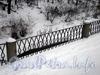 Ограда набережной реки Волковки. Январь 2009 г.