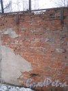 Красное Село (Горелово), ул. Заречная, дом 4а. Фрагмент ограды. Фото 4 января 2014 г.