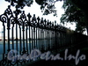 Ограда Румянцевского сада. Фото июль 2009 г.