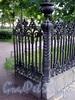 Калитка ограды Румянцевского сада. Фото июль 2009 г.