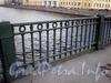 Ограда Семеновского моста. Фото июль 2009 г.