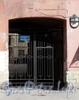 Гороховая ул., д. 62. Решетка ворот. Фото июль 2009 г.